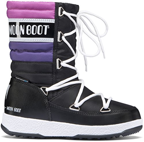 Moon Boot W.E. Quilted WP Kids Black-Purple-Orchid Schuhgröße 27 2017 Stiefel