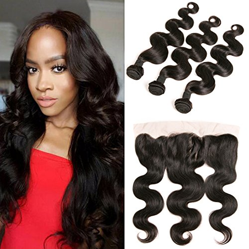 Peruvian Lace Front Ear to Ear Closure 4x13 Free Part Bleached Knots...