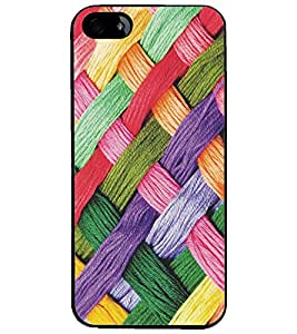 PrintDhaba Pattern D-5170 Back Case Cover for APPLE IPHONE 5S (Multi-Coloured)