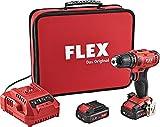 FLEX 450.561, Trapano avvitatore a batteria a 2 velocità, 10.8 V, Nero/Rosso