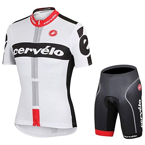 Strgao 2016 Herren Pro Rennen Team Cervelo MTB Radbekleidung Radtrikot Kurzarm und Radhosen Anzug Cycling Jersey Shorts suit