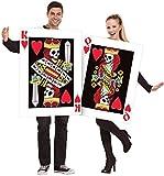 Fancy Me Paar Damen und Herren König und Queen of Herzen Alice im Wunderland Spielkarten Vegas Poker Kostüm Verkleidung Outfit - Multi, Einheitsgröße