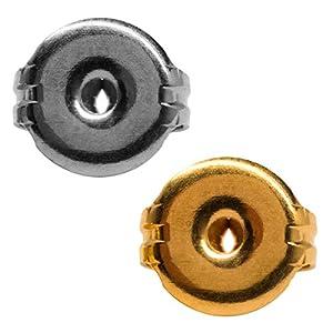 1 Erstohrstecker Verschluss 316L Chirugenstahl 7mm Ohrmutter