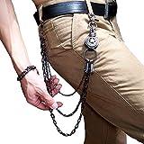 Heth Männer Taille Brieftasche Kette Punk Gothic Rock Hip-Hop Biker Trucker Hose Hose Jeans Kette Nicht Mainstream Schlüsselanhänger (Star)