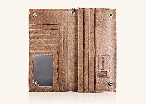 ZXDOP Brieftasche der Männer Mappen-Retro- Männer lange Beutel-Mappe der ledernen Beutel-Männer ( farbe : 3# ) 1#
