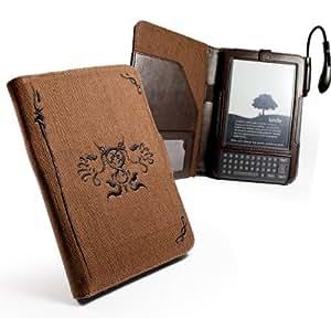 Tuff-Luv custodia Canapa naturale Amazon Kindle Keyboard (3° generazione) - Marrone