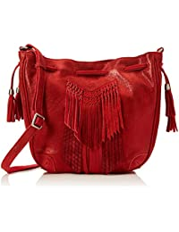 Mila Louise Oruna Spk/eci - Bolso de asas de Piel para mujer Rojo Rouge (Rubi)