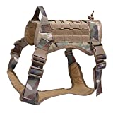 Wildlead Tactical Training Dog Harness Vest Militar Ajustable Molle Chalecos de Nylon Perros Productos