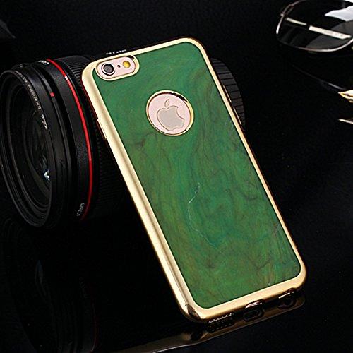 iPhone Case Cover Bunte galvanisieren Bowlder Muster TPU Soft Case Gummi-Silikon-Haut-Abdeckungs-Fall für IPhone 6 Plus / 6S plus ( Color : Brown , Size : IPhone 6S Plus ) Green