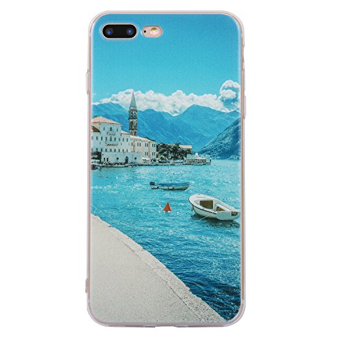 iphone 7 Plus Handyhülle,iphone 7 Plus Silikon Hülle,Cozy Hut 3D Handyhülle Muster Case Cover Für iphone 7 Plus Liquid Crystal Ultra Dünn Crystal Clear Transparent Handyhülle Soft Cover Premium Anti-S Schiff