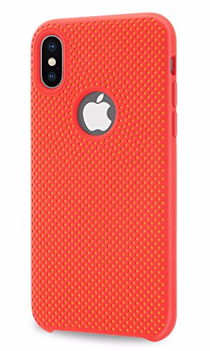Allinside iPhone X Hülle [Motion Series] Dual Layer Schutz für iPhone X Rot Gelb (Gelb Front Pad)