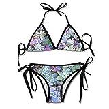 Women Sexy Swimwear Adjustment Meaty Plant Boxing Bikini Set Swimsuits 2 Piece