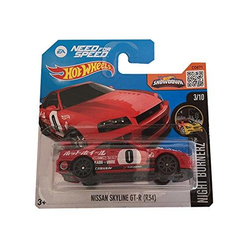 Hot Wheels Nissan Skyline GT-R (R34) (Short Card) - Night Burnerz