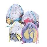 DoDoLar Wäschenetz Wäschesäcke 4 Stück Waschbeutel für Waschmaschine Reise waschsack Set mit Tunnelzug für BH, Unterwäsche, Socken, Baby Kleidung Pullover Mantel, Hosen