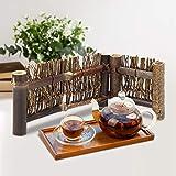Especificación:  Condición: 100% nuevo  Tipo de artículo: cerca de bambú  Material: bambú  Peso aproximado.64g-122g/2.3 oz-4.3oz  Tamaño: 1 # M, 2 # L (Opcional)  M: aprox.16x7.5x1.5cm/6.3x3.0x0.6in, 8x7.5x1.5cm/3.1x3.0x0.6in  L: aprox.24x12x1.5cm/...