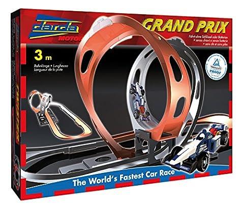 Darda 50108 Circuit de course grand prix Avec voiture de course bleue Longueur de piste 300 cm