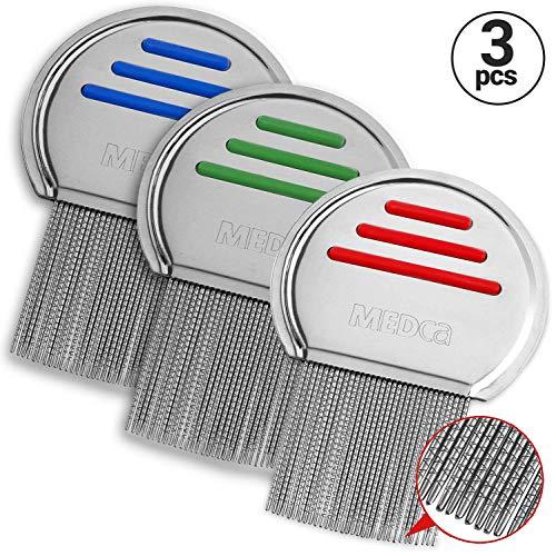 Peine para piojos. Tratamiento para piojos empaquetado individualmente para prevenir la contaminación...