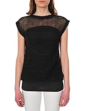 Brunello Cucinelli Top mujer Negro M IT