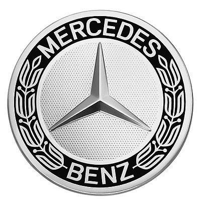 IPRIME - 1 ricambi per coprimozzo decorativo Mercedes Benz con stella e corona d'alloro, colore: Nero, per: Classe E, Classe C, CL, CLS, SLK, ML, GLK, classe A, classe B, W204, W212, W210, W221, W220, C209, W207, W246, Diametro: 75mm