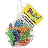 Unique Party - 74014 - Paquet de 12 Jouets Dinosaures pour Pochettes - Cadeau