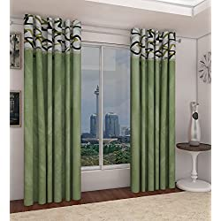 "Home Candy Attractive Polyester 2 Piece Door Curtain Set - 84""x48"" - Multicolor (SOE-CUR-542_542)"