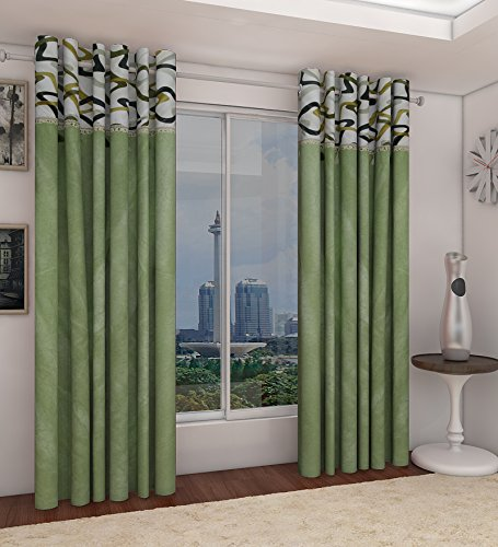 Home Candy Elegant 2 Piece Polyester Long Door Curtain Set - 108