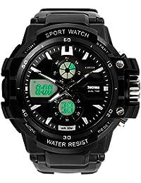 Reloj doble / deportes al aire libre de los hombres / reloj electrónico impermeable de la montaña / reloj multi-función del salto , large silver