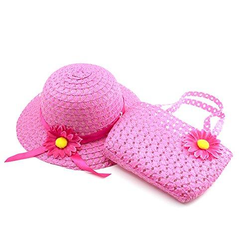 huayang-frische-pastoral-art-baby-madchen-sommer-sonnenschutz-strohhut-blumenkappe-handtasche-rosa