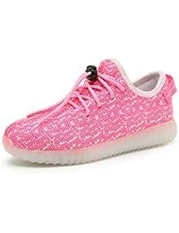Viken Azer-UK Moda Zapatos LED Unisex LED 7 Colores Brillante USB de Carga Light Up Zapatillas Deportivos Hombre Mujer