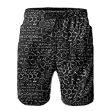 magic ship ZR-Go Men's Chemistry Formula Quick-Dry Summer Beach Surfing Board Shorts Swim Trunks Cargo Shorts Large
