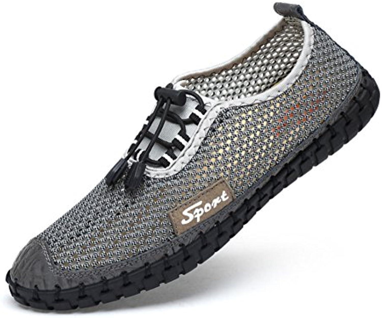 HAOYUXIANG Zapatos netos de los hombres Dengshan corriendo zapatos de los hombres zapatos perezosos transpirables...