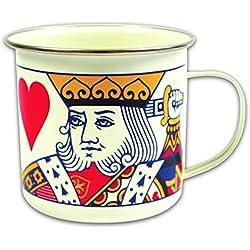 Gift Republic - Taza (esmaltada), diseño con rey de Corazones