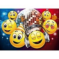 """Edition Colibri 10 Invitaciones en español """"Discoteca"""": Juego DE 10 Invitaciones graciosas Tipo Smiley para el Cumpleaños Infantil (10833 ES)"""
