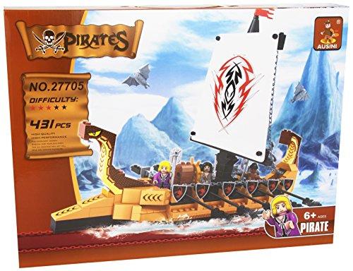 Ausini - Juego de construcción Barco pirata con remos - 431 piezas (ColorBaby 42236)
