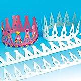 Lot de 12 Couronnes à personnaliser - Idéal pour les déguisements de Prince et de Princesse