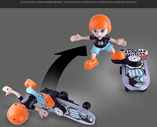 2018 Newest Intelligence Toys Hotsellhome Cartoon Electric Shining Sliding  Plate Stunt Scooter Light Music Children's Funny Toy,Exercise The Kids'