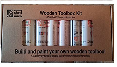 Easy to Build Wooden Tool Box and Paint Kit by Home Depot