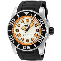 Invicta Pro Diver-14661-Men's Watch-Analogue Quartz-White Dial-Black polyurethane strap