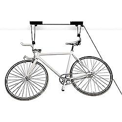 Femor Soporte de techo para bicicletas elevador bicicletas Soporte pared techo Suspensión hasta 20kg (2 pcs acero)
