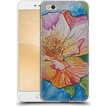 Offizielle Magdalena Hristova Orange unf Rosa Blumen Ruckseite Hülle für Xiaomi Mi 5c