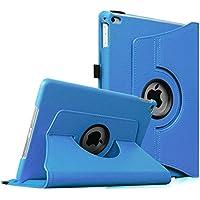Fintie iPad Air 2 Custodia in pelle - Slim girevole Smart 360 gradi di rotazione Case Cover Custodia Protettiva con Funzione sonno auto / sveglia la funzione per Apple iPad Air 2 iPad 6 2014 Modello, Azzurro