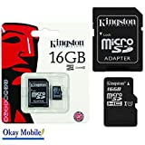 Original Kingston MicroSD Karte Speicherkarte 16 GB Für Samsung GALAXY S3 Mini (GT-I8200N)