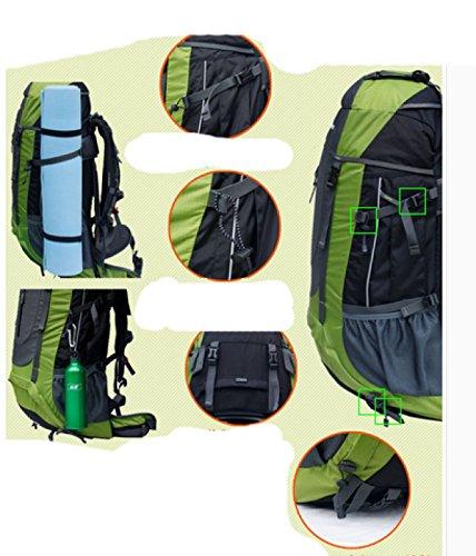 LAIDAYE Außentasche Bergsteigen Taschen Bulk Taschen Reisetaschen Sporttasche Tasche Schulter Green