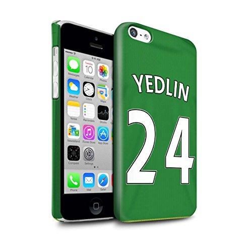 Offiziell Sunderland AFC Hülle / Glanz Snap-On Case für Apple iPhone 5C / Harper Muster / SAFC Trikot Away 15/16 Kollektion Yedlin