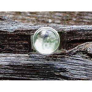 Bottled Up Designs Aufbereiteter Weinlese-freier Milch-Flaschen-Glasglasedelstein-justierbarer Ring