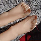 BIXINYAAN 1 Paio Silicone Femmina Piede indossatrice Display Scarpe Display jewerly Sandalo Scarpa Calzino Arte Schizzo