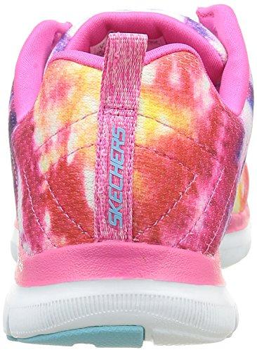 Skechers Damen Flex Appeal 2.0 High Energy Sneaker Blau-Gelb-Rosa