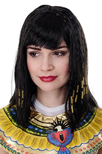 WIG ME UP ® - PW0185-P103 Karneval Cleopatra Kleopatra Hollywood Diva Halloween (Hollywood Für Events Halloween)