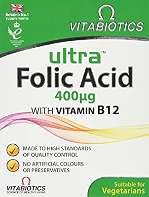 Ultra Folic Acid Tablets, Pack of 60 from Ultra