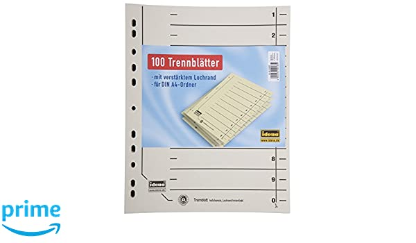 Trennblätter DIN A4 hellchamois 10x 10 100